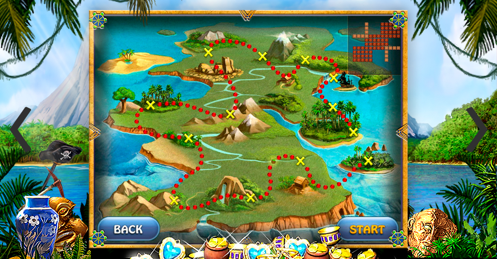 Screenshot № 2. Download Treasure Island and more games from Realore website