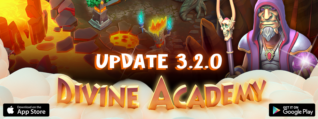 Update 3.2.0 of Divine Academy is avaible on iOS and Android!