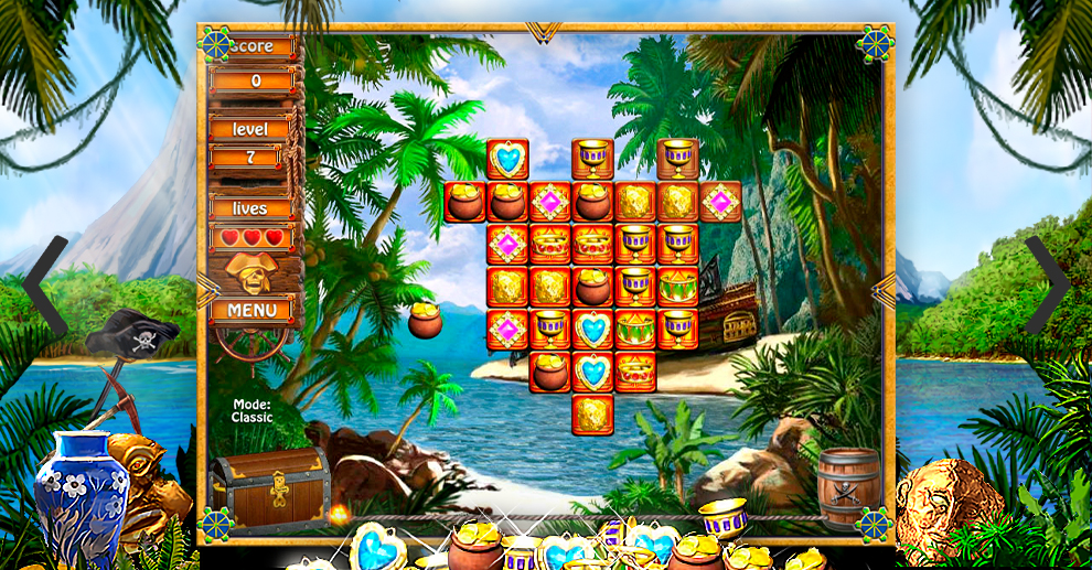 Screenshot № 1. Download Treasure Island and more games from Realore website