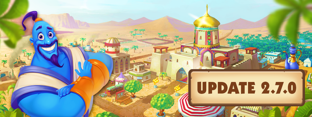 Update 2.7 of Farm Mania: Silk Road is avaible on iOS and Android!
