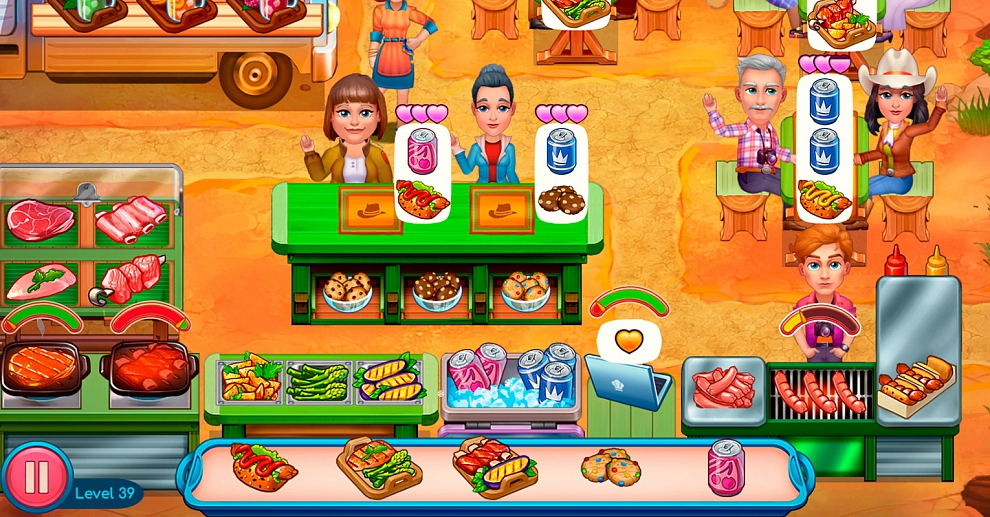 Screenshot № 4. Download Claire's Cruisin' Café. Collector's Edition and more games from Realore website