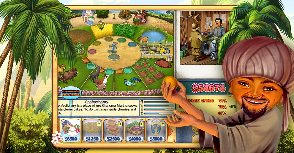 Screenshot № 5. Download Farm Mania 3: Hot Vacation and more games from Realore website