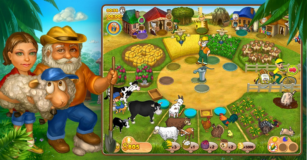 Screenshot № 3. Download Farm Mania 2 and more games from Realore website