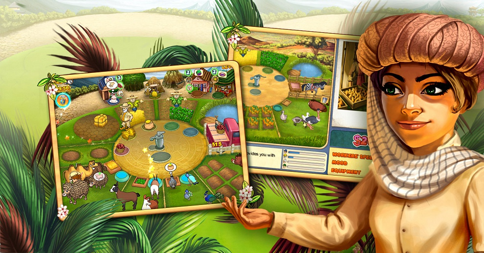 Screenshot № 8. Download Farm Mania 3: Hot Vacation and more games from Realore website