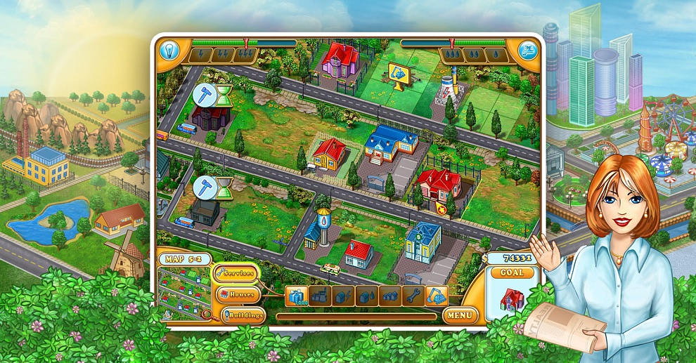 Screenshot № 1. Download Jane's Realty and more games from Realore website