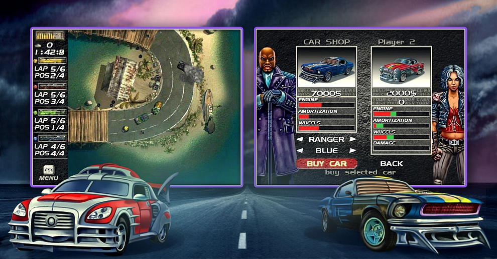 Screenshot № 2. Download Mad Cars and more games from Realore website