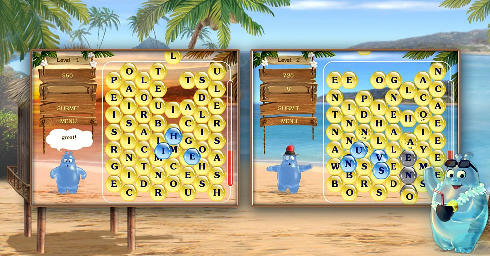 Screenshot № 1. Download Aqua Words and more games from Realore website