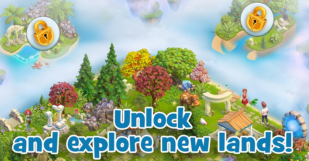 Screenshot № 8. Download Land of Legends: Divine Town and more games from Realore website