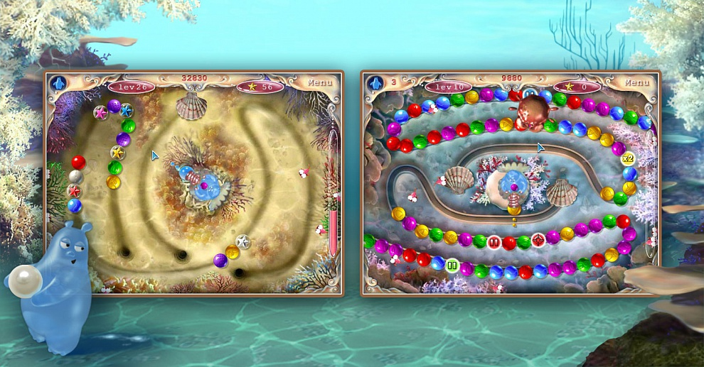 Screenshot № 1. Download Aqua Pearls and more games from Realore website