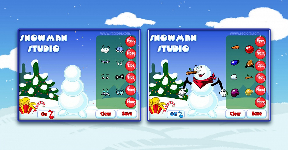 Screenshot № 1. Download Snowman Studio and more games from Realore website