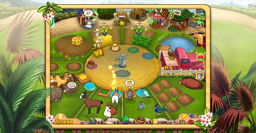 Screenshot № 2. Download Farm Mania 3: Hot Vacation and more games from Realore website