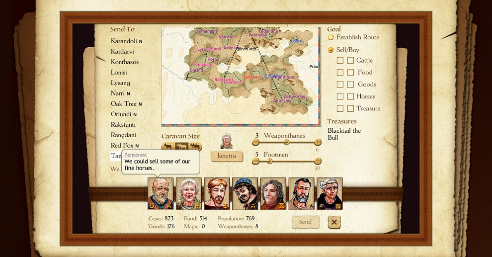 Screenshot № 5. Download King of Dragon Pass and more games from Realore website