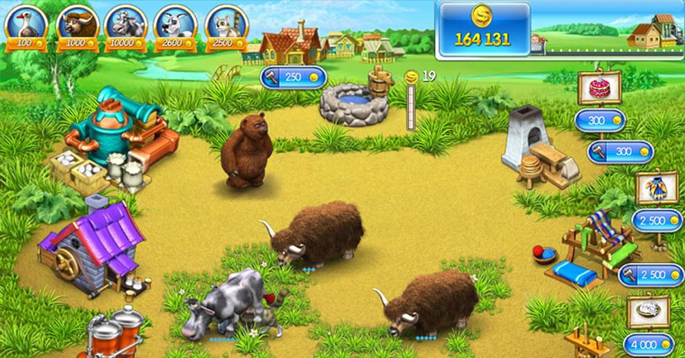 Картинка не сложная веселая ферма
