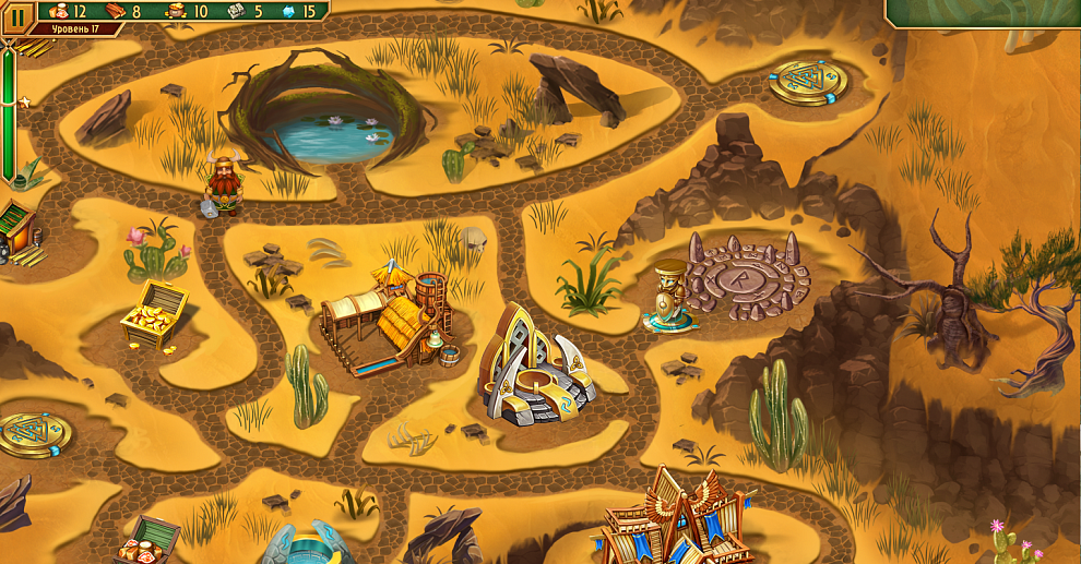 Screenshot № 4. Download Viking Brothers 3. Collector's Edition and more games from Realore website
