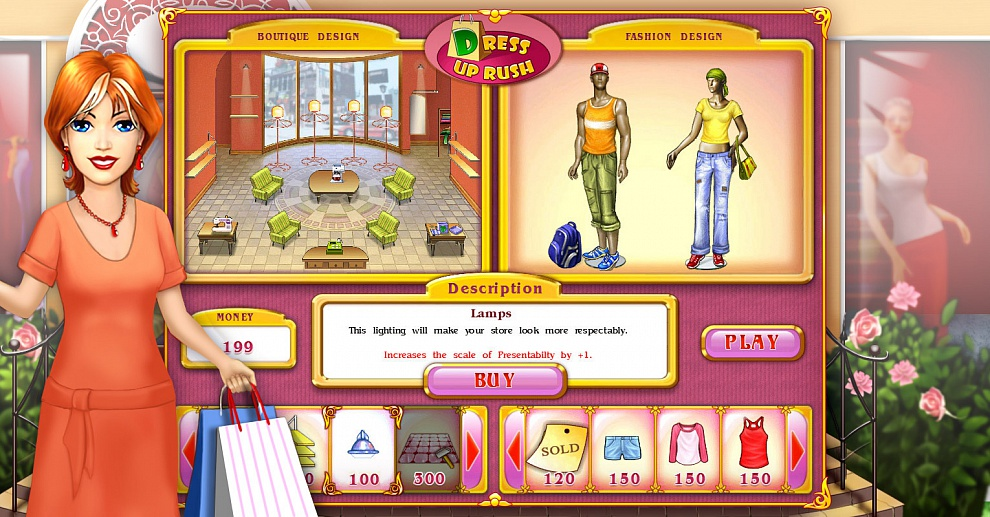 Screenshot № 5. Download Dress Up Rush and more games from Realore website