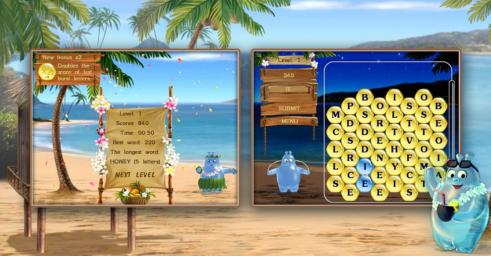 Screenshot № 2. Download Aqua Words and more games from Realore website