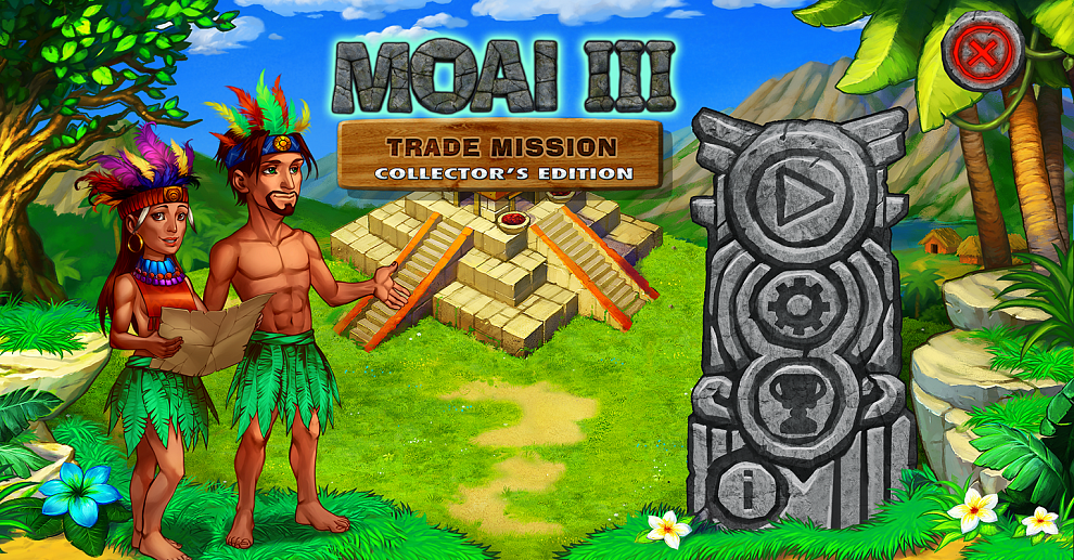 Screenshot № 1. Download Moai 3: Trade Mission Collector's Edition and more games from Realore website