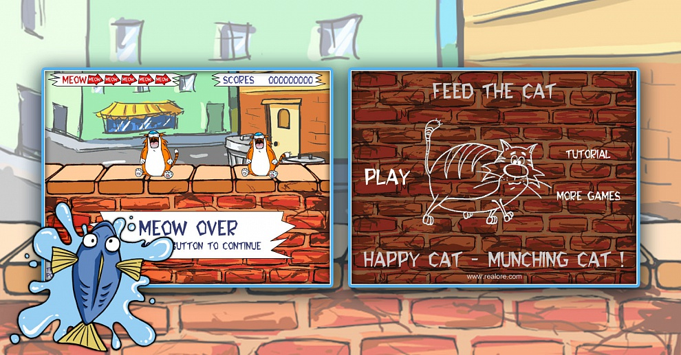 Screenshot № 2. Download Feed The Cat and more games from Realore website