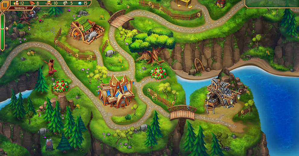 Screenshot № 1. Download Viking Brothers 3. Collector's Edition and more games from Realore website