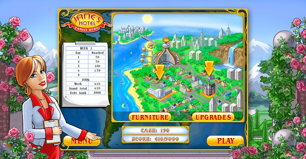 Screenshot № 7. Download Jane's Hotel 2: Family Hero and more games from Realore website