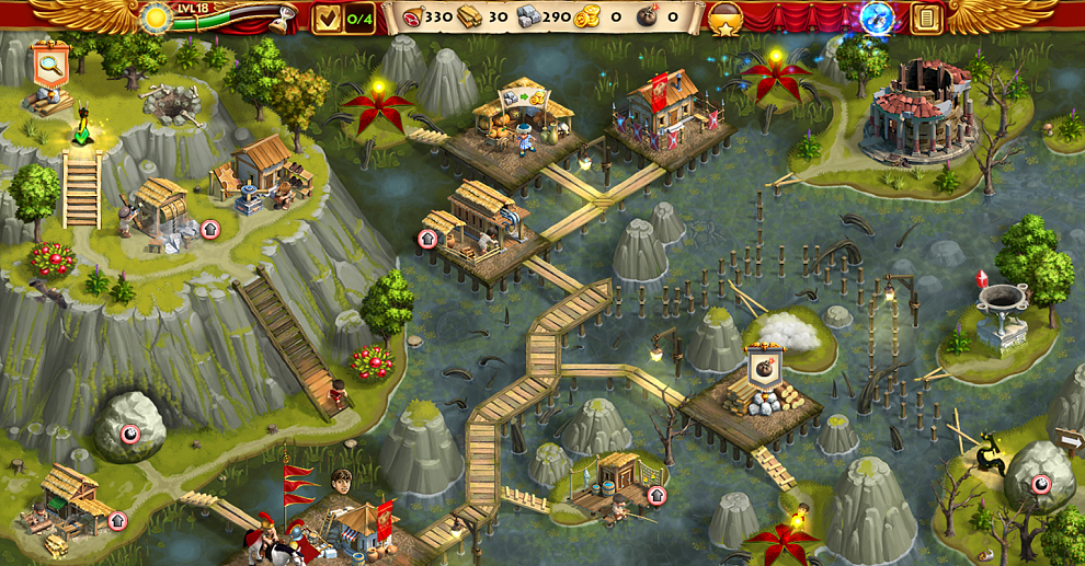 Screenshot № 1. Download Roads of Rome: New Generation 3 and more games from Realore website