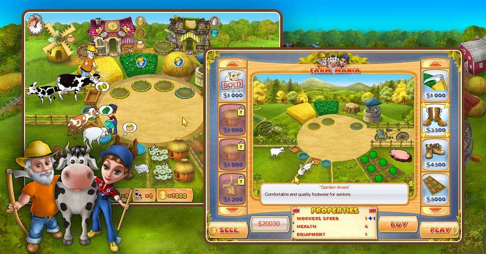 Screenshot № 1. Download Farm Mania and more games from Realore website