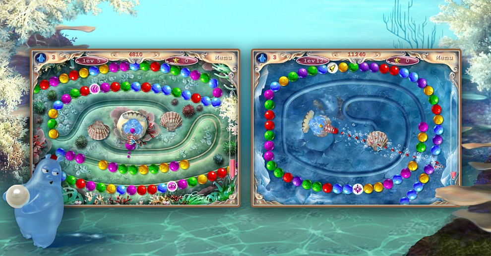 Screenshot № 2. Download Aqua Pearls and more games from Realore website