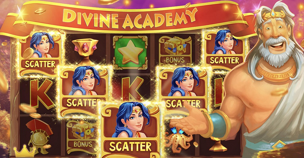 Screenshot № 1. Download Divine Academy Casino: Slots and more games from Realore website