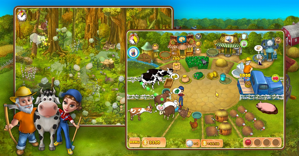 Screenshot № 4. Download Farm Mania and more games from Realore website