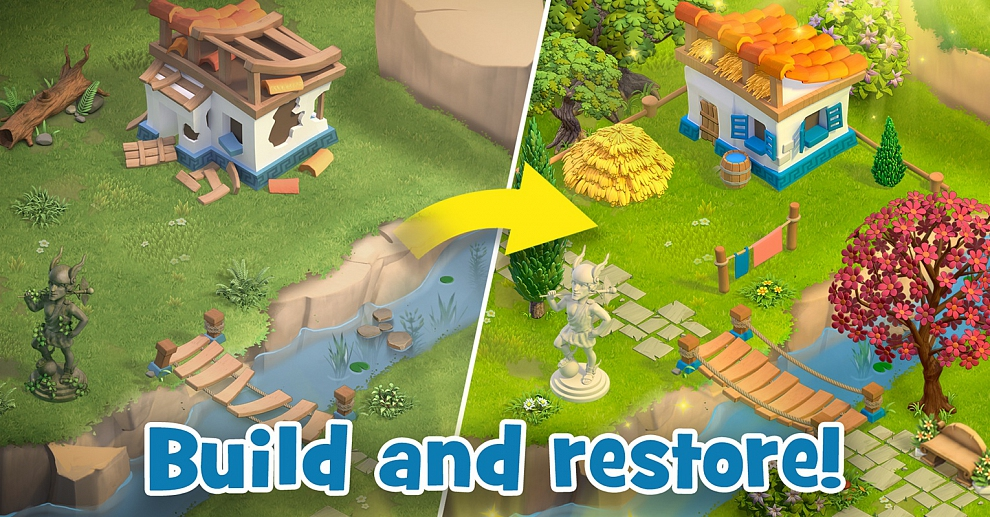 Screenshot № 7. Download Land of Legends: Divine Town and more games from Realore website