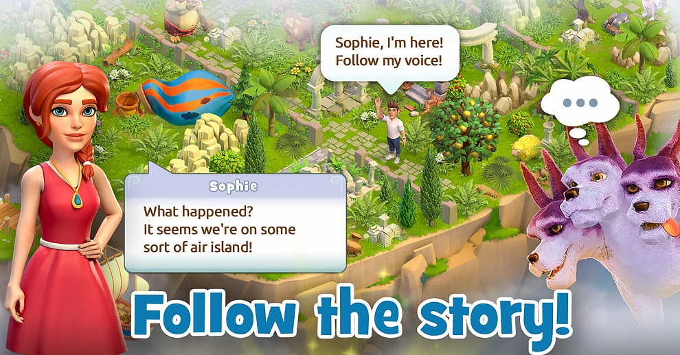 Screenshot № 2. Download Land of Legends: Divine Town and more games from Realore website