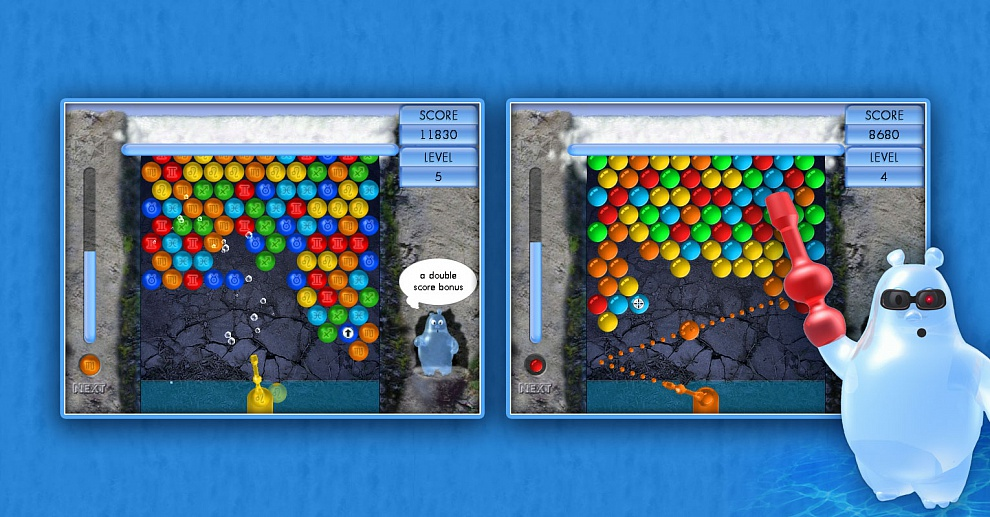 Screenshot № 1. Download Aqua Bubble and more games from Realore website