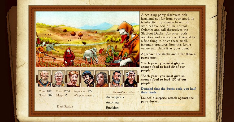 Screenshot № 1. Download King of Dragon Pass and more games from Realore website