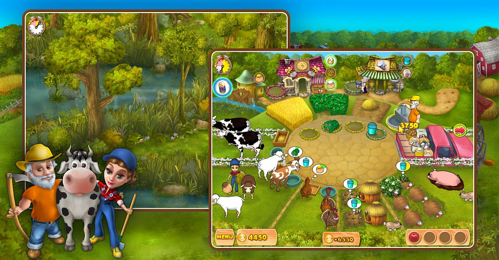Screenshot № 5. Download Farm Mania and more games from Realore website
