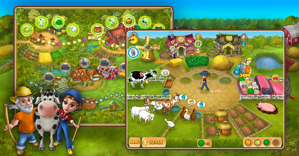 Screenshot № 3. Download Farm Mania and more games from Realore website