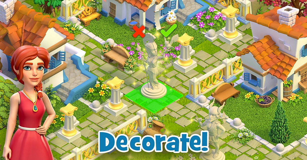 Screenshot № 5. Download Land of Legends: Divine Town and more games from Realore website
