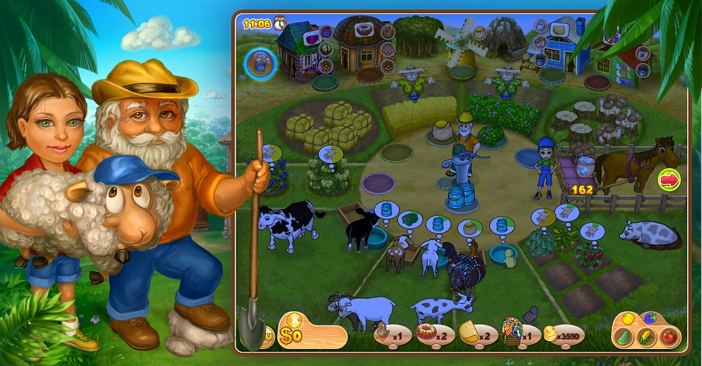 Screenshot № 5. Download Farm Mania 2 and more games from Realore website