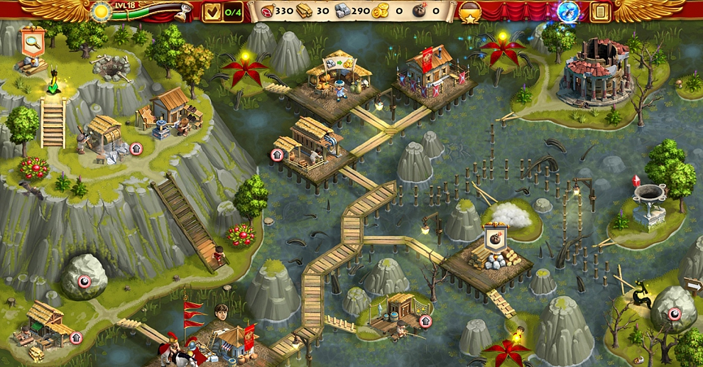 Screenshot № 1. Download Roads of Rome: New Generation 3 Collector`s Edition and more games from Realore website