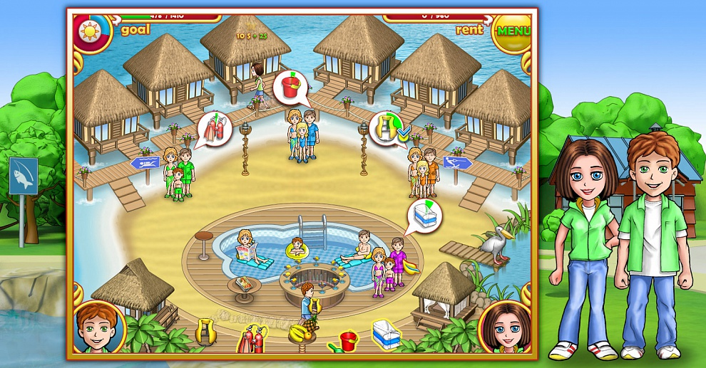 Screenshot № 1. Download Ashtons: Family Resort and more games from Realore website