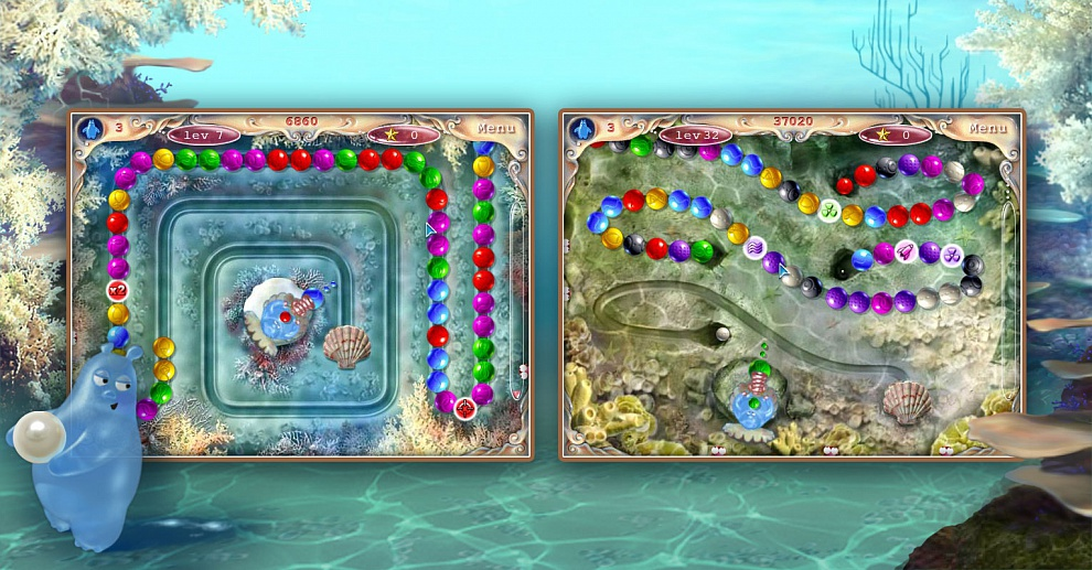 Screenshot № 3. Download Aqua Pearls and more games from Realore website