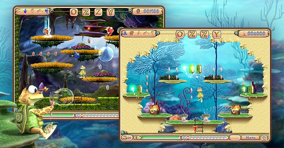 Screenshot № 2. Download Ozzy Bubbles and more games from Realore website