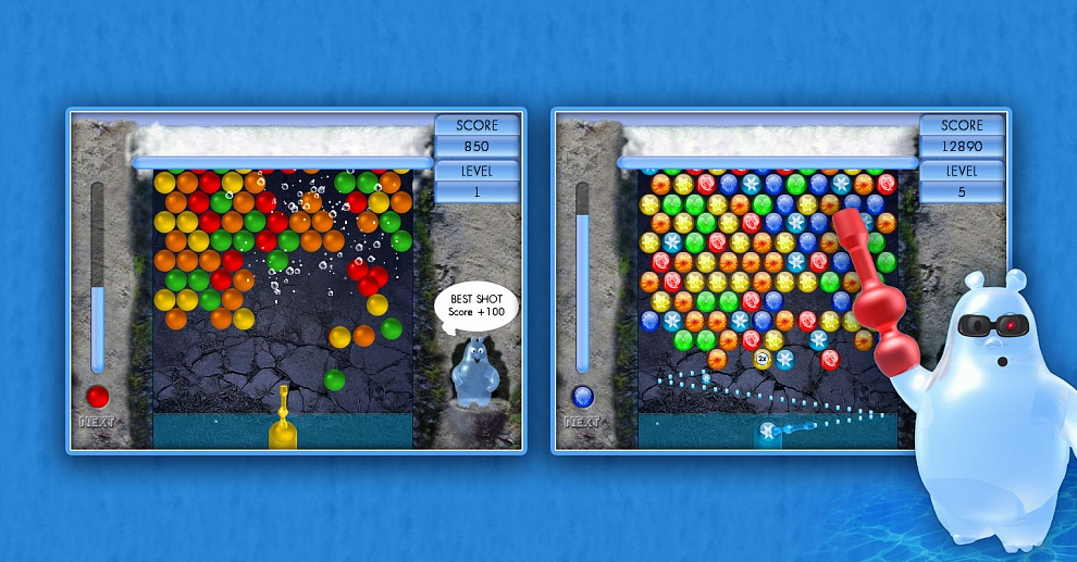 Screenshot № 2. Download Aqua Bubble and more games from Realore website