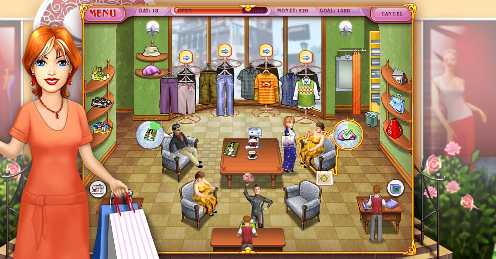 Screenshot № 1. Download Dress Up Rush and more games from Realore website