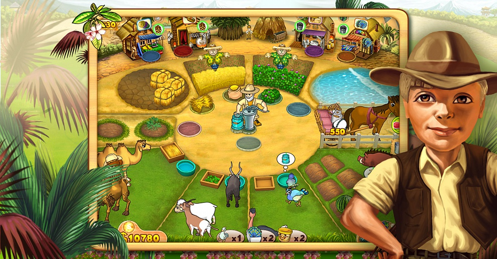 Screenshot № 7. Download Farm Mania 3: Hot Vacation and more games from Realore website