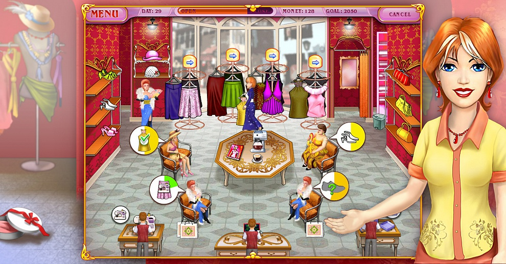 Screenshot № 4. Download Dress Up Rush and more games from Realore website