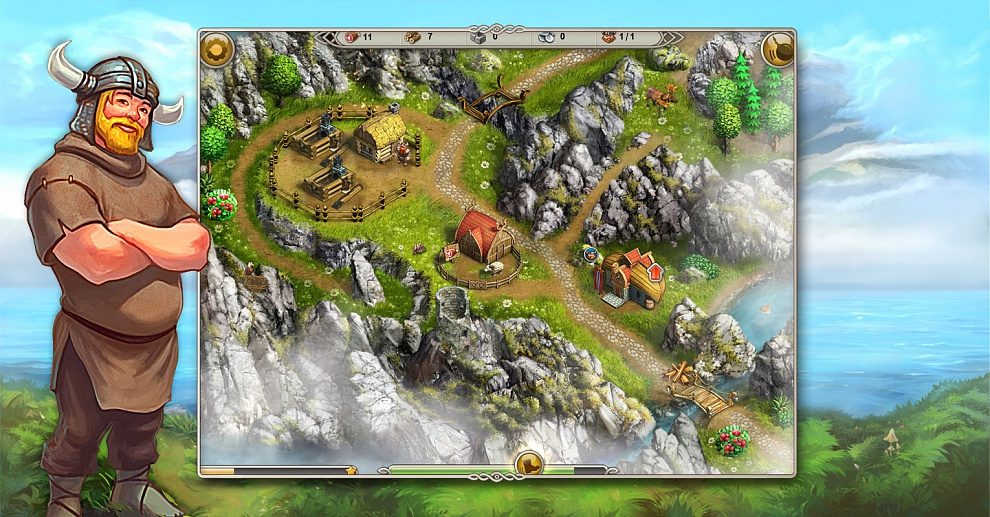 Screenshot № 2. Download Viking Saga 1: The Cursed Ring and more games from Realore website