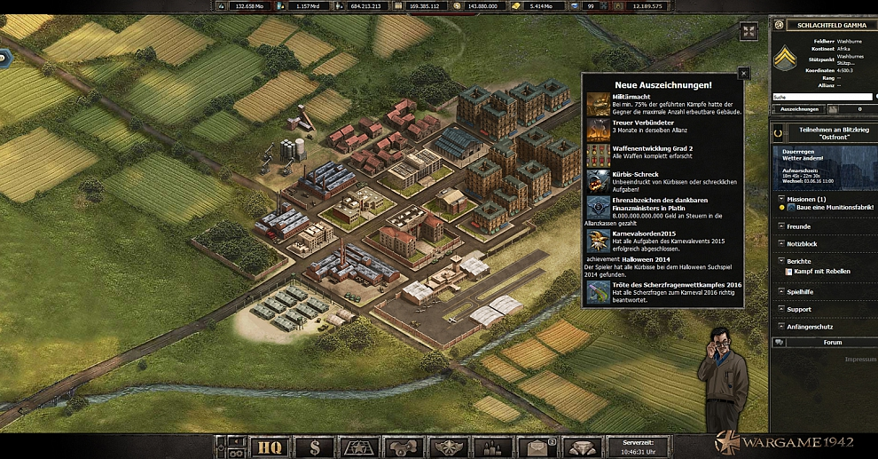 Screenshot № 1. Download Wargame 1942 and more games from Realore website
