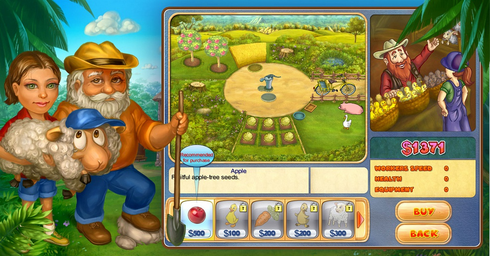 Screenshot № 4. Download Farm Mania 2 and more games from Realore website