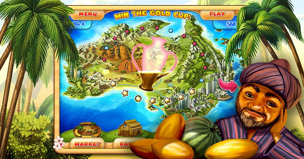 Screenshot № 4. Download Farm Mania 3: Hot Vacation and more games from Realore website
