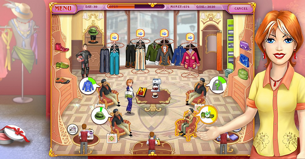 Screenshot № 2. Download Dress Up Rush and more games from Realore website